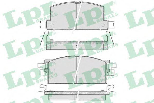 Колодки тормозные LPR 05P287