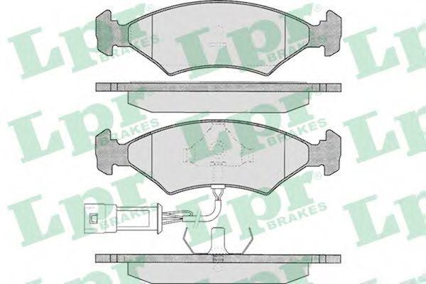 Колодки тормозные LPR 05P327