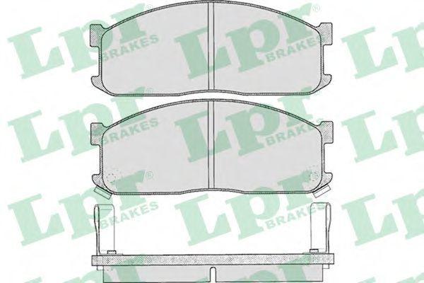 Колодки тормозные дисковые LPR 05P335