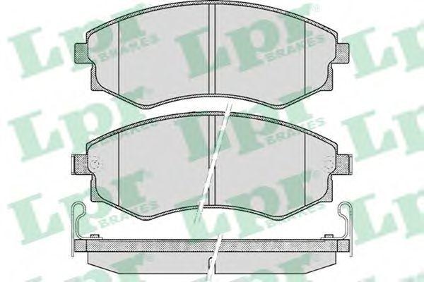 Колодки тормозные LPR 05P348