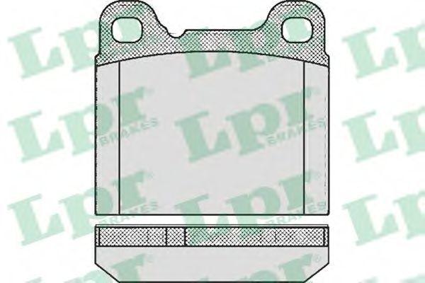 Колодки тормозные дисковые LPR 05P362