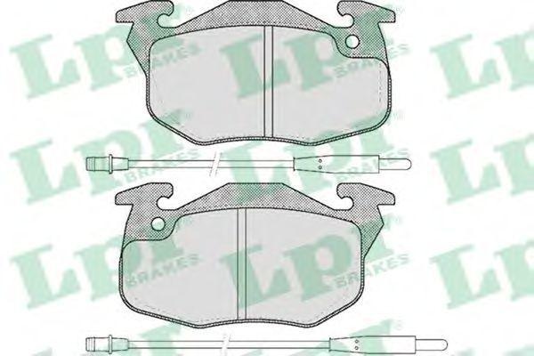 Колодки тормозные LPR 05P384