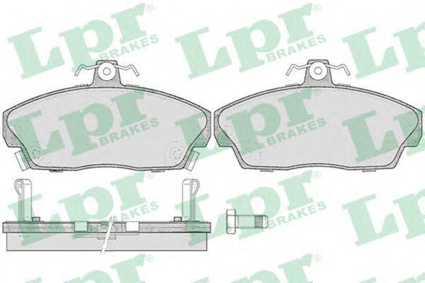 Колодки тормозные LPR 05P430