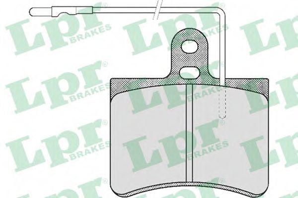 Колодки тормозные LPR 05P443