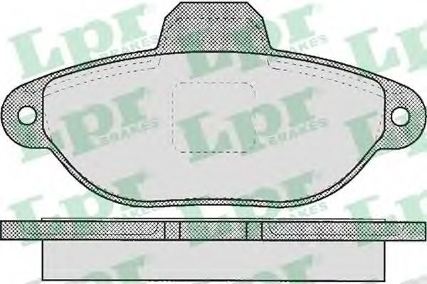 Колодки тормозные LPR 05P464