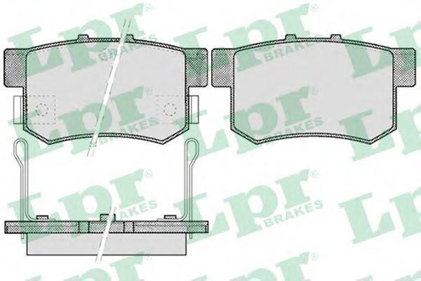 Колодки тормозные LPR 05P508