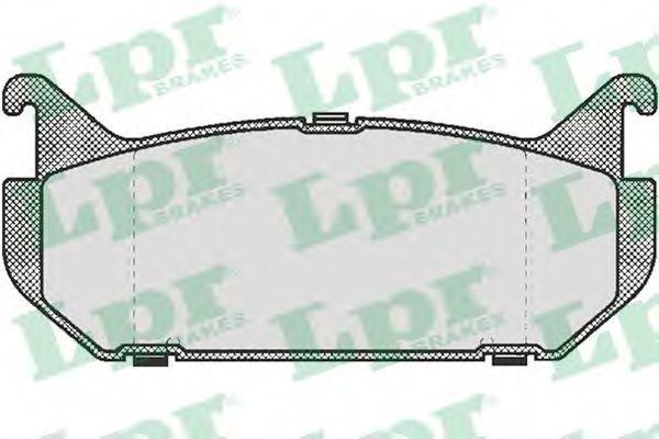 Колодки тормозные LPR 05P512