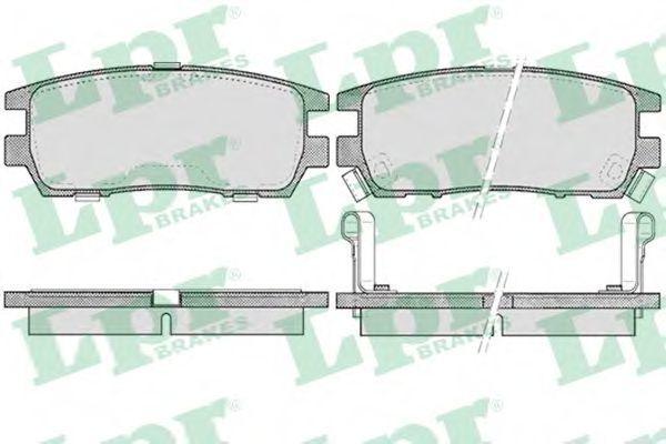 Колодки тормозные LPR 05P518
