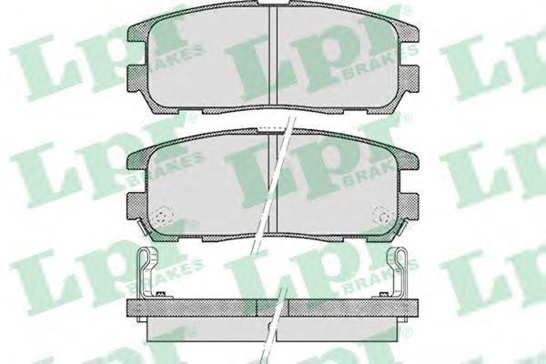 Колодки тормозные LPR 05P524
