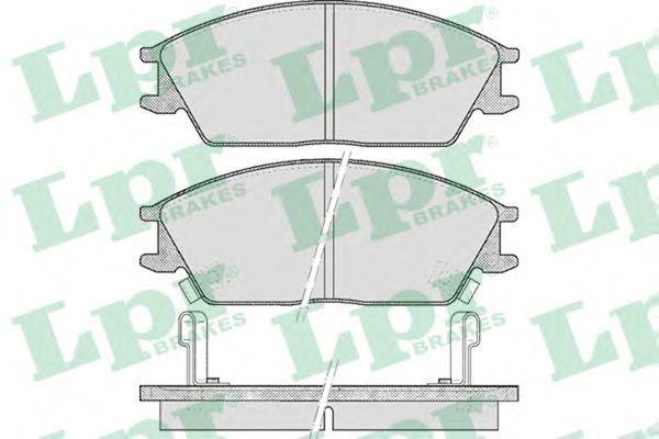 Колодки тормозные LPR 05P542