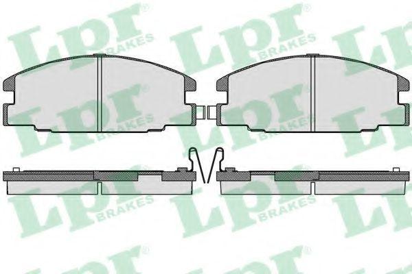 Колодки тормозные LPR 05P544
