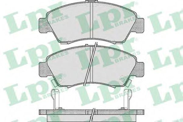 Колодки тормозные дисковые LPR 05P558
