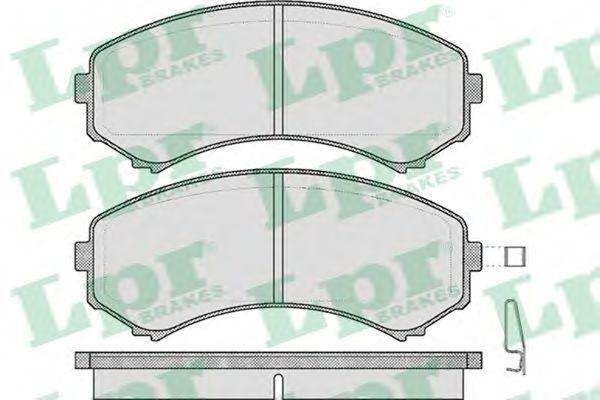 Купить Колодки тормозные LPR 05P569