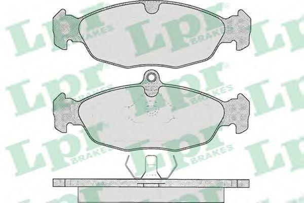 Колодки тормозные LPR 05P599
