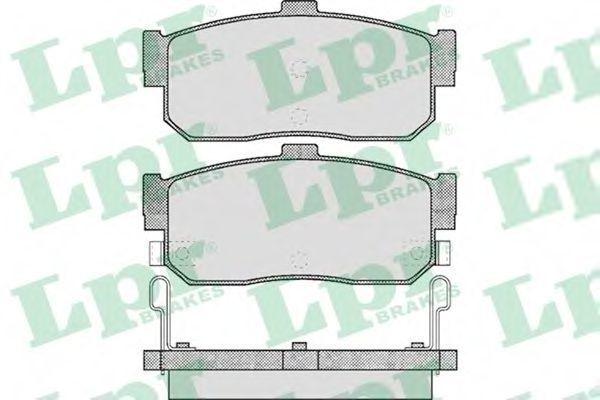 Колодки тормозные LPR 05P602