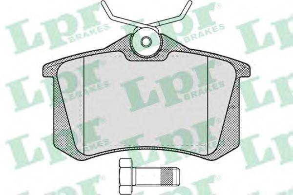 Колодки тормозные LPR 05P634