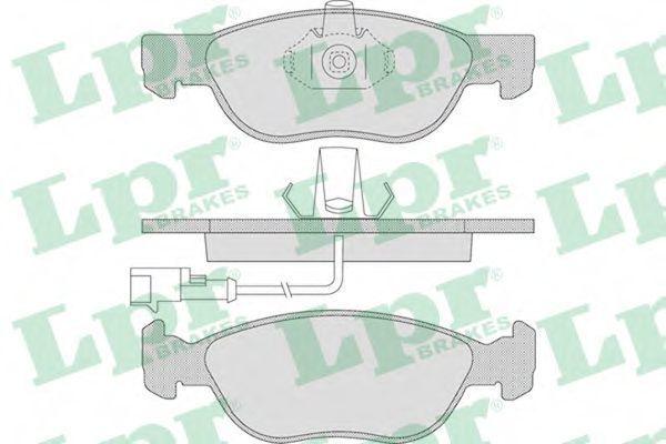 Колодки тормозные передние LPR 05P646