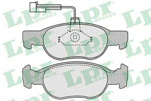 Колодки тормозные LPR 05P652