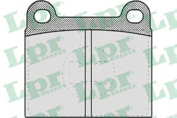 Колодки тормозные дисковые LPR 05P659