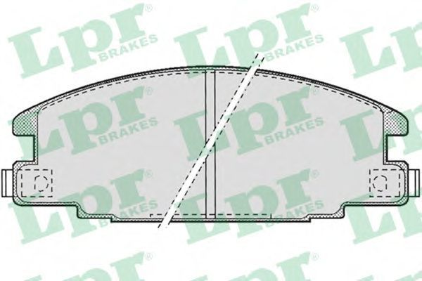 Колодки тормозные LPR 05P685