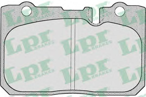 Колодки тормозные LPR 05P702