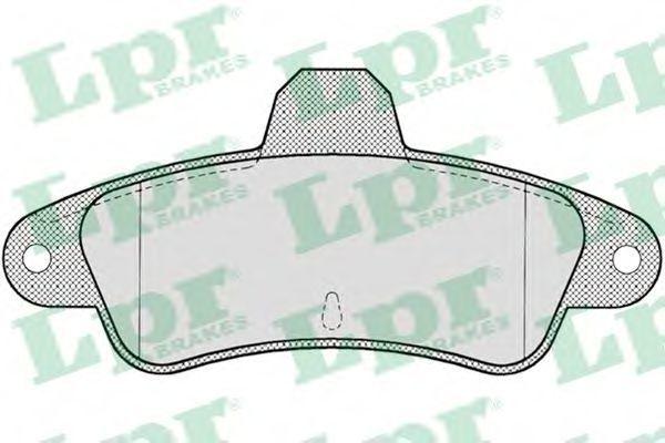 Колодки тормозные LPR 05P714