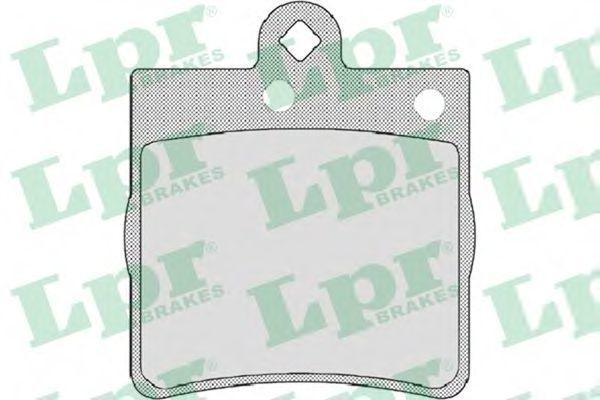 Колодки тормозные LPR 05P726