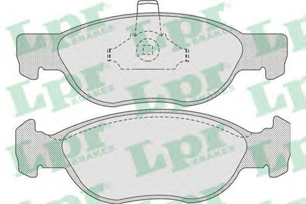 Колодки тормозные LPR 05P740