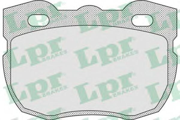 Колодки тормозные дисковые LPR 05P742
