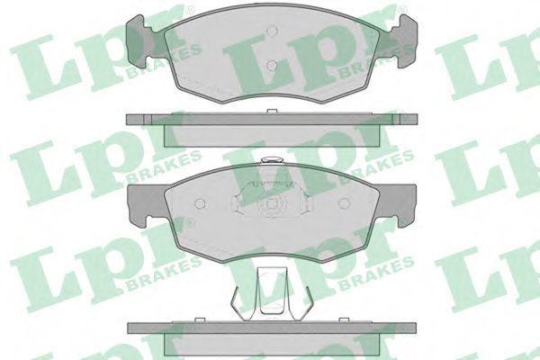 Колодки тормозные LPR 05P756