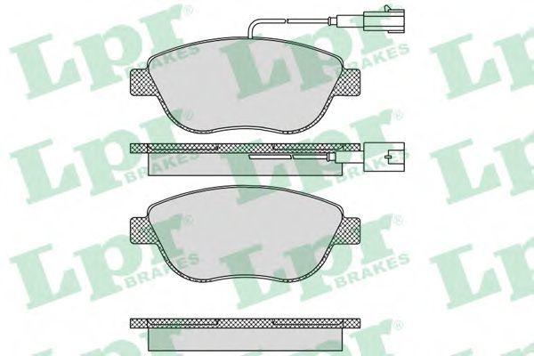 Колодки тормозные LPR 05P764