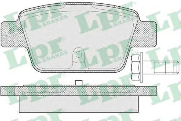 Колодки тормозные дисковые LPR 05P780