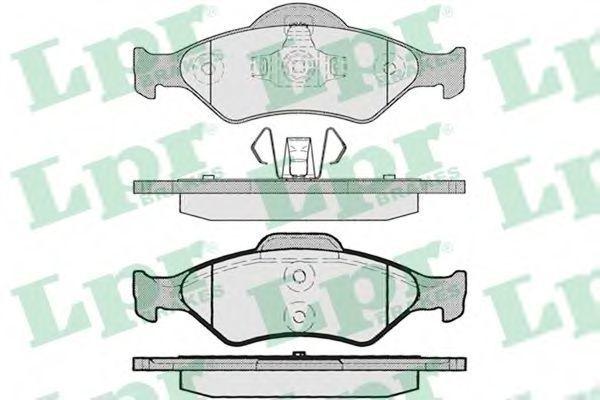 Колодки тормозные LPR 05P795