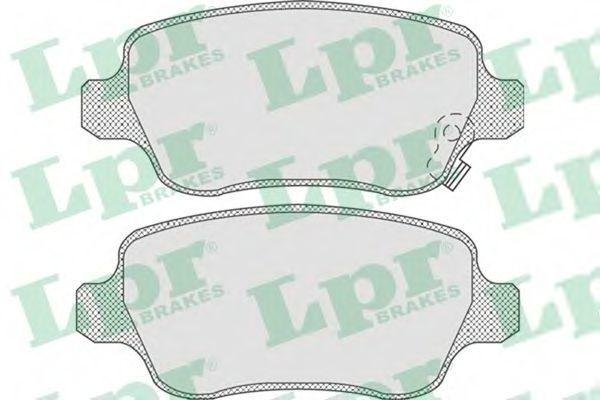 Колодки тормозные LPR 05P811