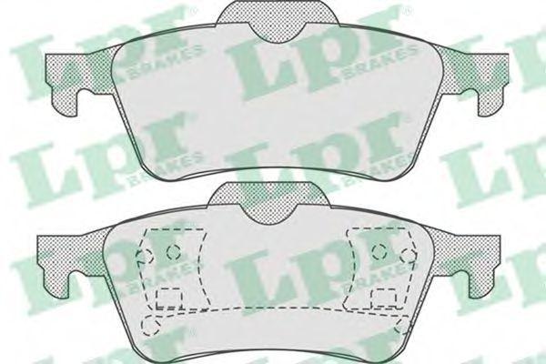 Колодки тормозные LPR 05P815