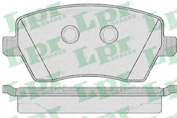 Колодки тормозные LPR 05P867