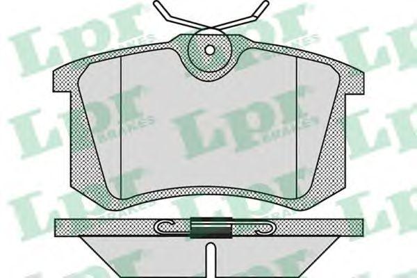 Колодки тормозные LPR 05P868