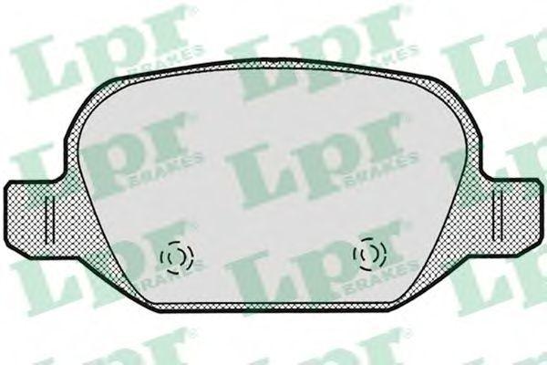 Колодки тормозные LPR 05P871