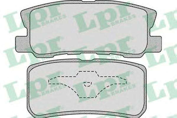 Колодки тормозные LPR 05P954