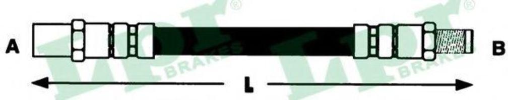 Шланг тормозной LPR 6T46124