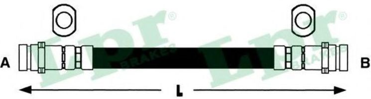 Шланг тормозной LPR 6T46427