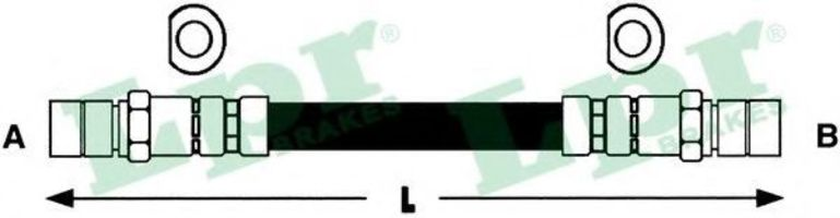 Шланг тормозной LPR 6T46118