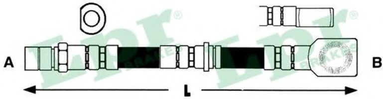 Шланг тормозной LPR 6T46799