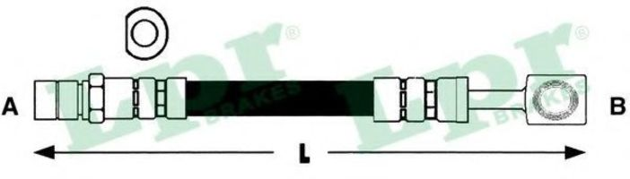 Шланг тормозной LPR 6T46181