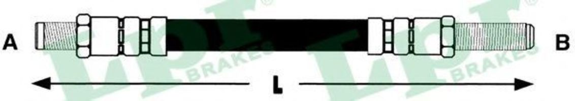 Шланг тормозной LPR 6T46138