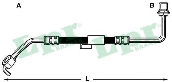 Шланг тормозной LPR 6T46218