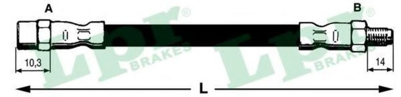 Шланг тормозной LPR 6T46161