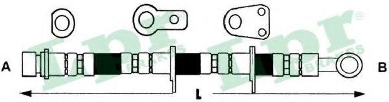 Шланг тормозной LPR 6T47296