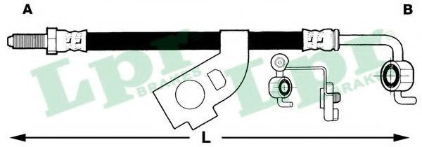 Шланг тормозной LPR 6T46227