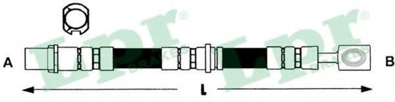 Шланг тормозной LPR 6T46793